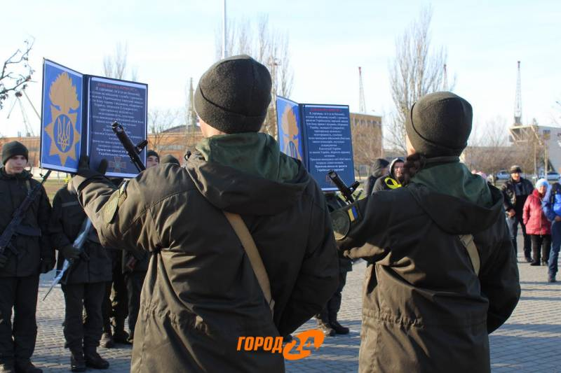 Ряды Измаильского батальона Нацгвардии пополнились молодыми солдатами (ФОТО)