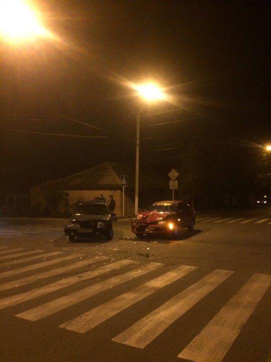 Ночью в Измаиле на Белгород-Днестровской произошло ДТП (ФОТО)