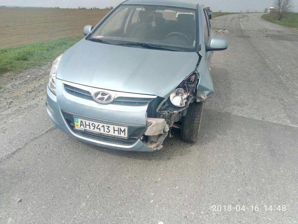 Под Измаилом на дороге не разминулись два  Hyundai (ФОТО)