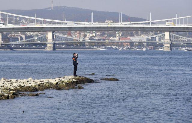 """Дунай в Венгрии высыхает: уровень воды упал до рекордного минимума, судна """"УДП"""" стоят (ФОТОРЕПОРТАЖ)"""