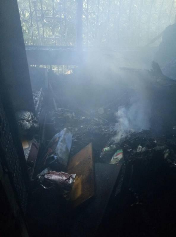 В Измаиле на И.Франко в пожаре пострадали пять квартир (ФОТО)